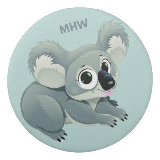 Cute Koala custom monogram eraser