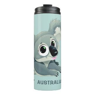 Cute Koala custom name & text tumbler