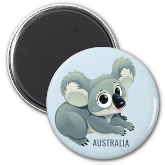 Cute Koala custom text magnet