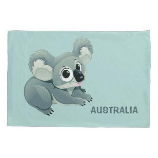 Cute Koala custom text pillowcases
