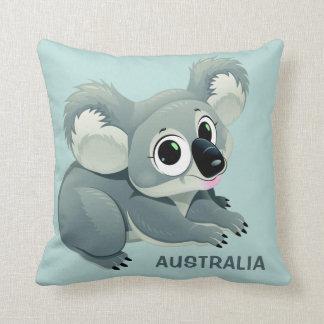 Cute Koala custom text throw pillows