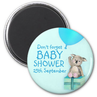 Cute koala don't forget boy baby shower magnet