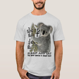 Cute Koala Eat And Sleep T-Shirt