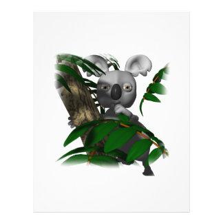 cute koala hiding in tree custom flyer