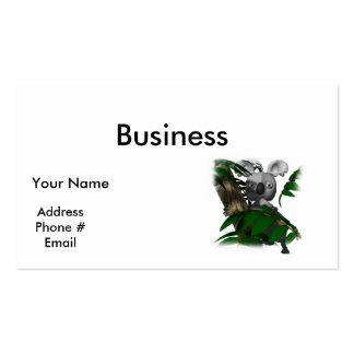 cute koala hiding in tree pack of standard business cards