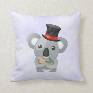 Cute Koala in a Black Top Hat Cushion