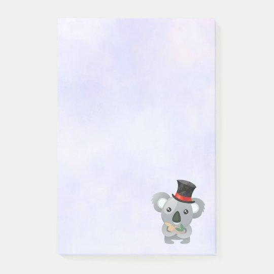 Cute Koala in a Black Top Hat Post-it