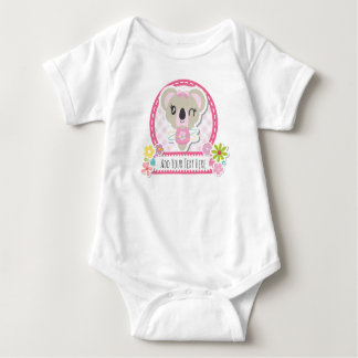 Cute Koala Personalised Vest Design Baby Bodysuit