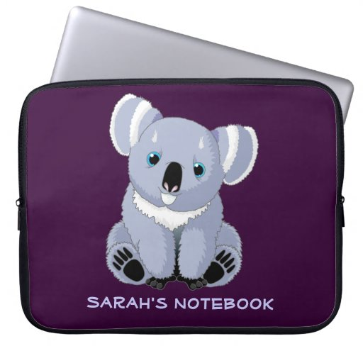 Cute Koala Personalized Electronics Bag Laptop Computer Sleeves