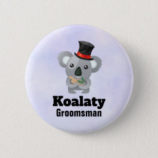 Cute Koala Pun Koalaty Groomsman 6 Cm Round Badge
