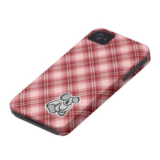 Cute Koala Red Plaid iPhone 4 Case-Mate Cases