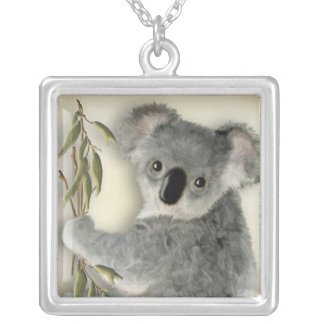 Cute Koala Silver Plated Necklace