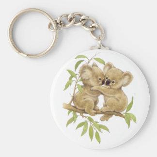 Cute Koalas Basic Round Button Key Ring