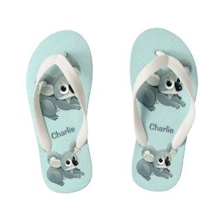 Cute Koalas custom name flip flops