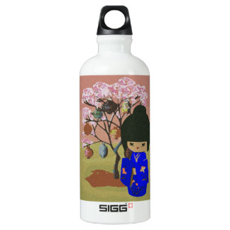 Cute kokeshi Doll with cherry blossom tree SIGG Traveller 0.6L Water Bottle