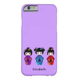 Cute kokeshi dolls cartoon name barely there iPhone 6 case