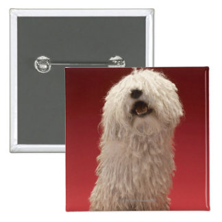 Cute Komondor Dog 15 Cm Square Badge
