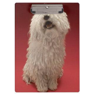 Cute Komondor Dog Clipboard