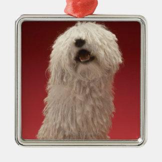 Cute Komondor Dog Silver-Colored Square Decoration
