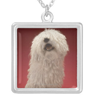 Cute Komondor Dog Silver Plated Necklace