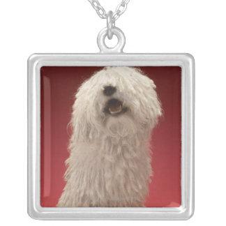 Cute Komondor Dog Silver Plated Necklace