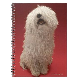 Cute Komondor Dog Spiral Note Book