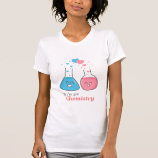 Cute Lab flasks in love, we've got chemistry T-Shirt