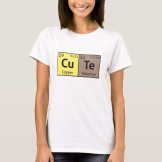 'Cute' ladies comedy science t-shirt
