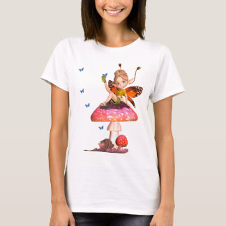 Cute Ladies Fairy T Shirt With Butterflies