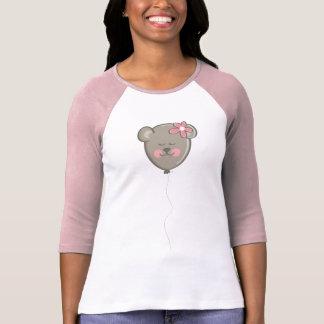cute lady bear ballon tshirt