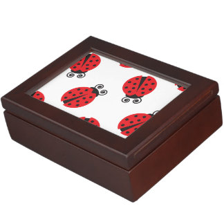 Cute Lady Bug Pattern Keepsake Box