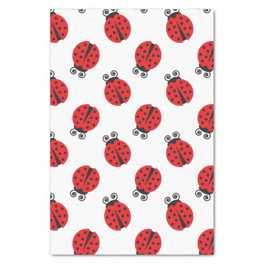 Cute Lady Bug Pattern Tissue Paper