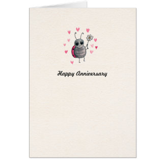 Cute Ladybird Ladybug Anniversary card