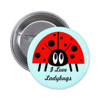 Cute Ladybug 6 Cm Round Badge