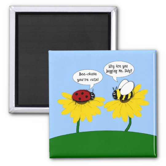 Cute Ladybug and Bumble Bee Magnet