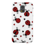 Cute Ladybug and Hearts Pattern Galaxy S5 Cover