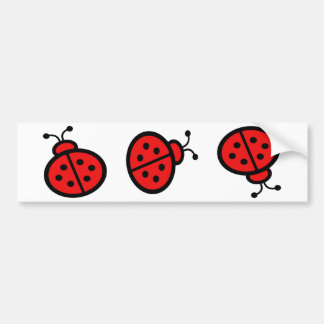 Cute Ladybug Art Gifts Bumper Sticker
