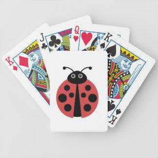 Cute Ladybug Bicycle Playing Cards