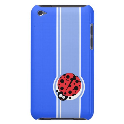 Cute Ladybug; Blue Barely There iPod Case