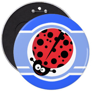 Cute Ladybug Blue Pin