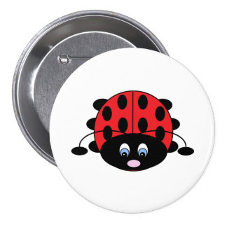 Cute Ladybug Button