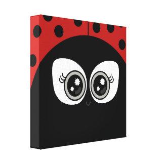 """Cute Ladybug"" CANVAS PRINT"