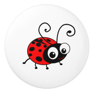 Cute Ladybug cartoon Ceramic Knob