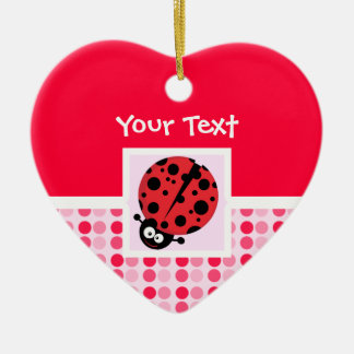 Cute Ladybug Christmas Ornament