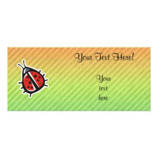 Cute Ladybug Design Custom Rack Card