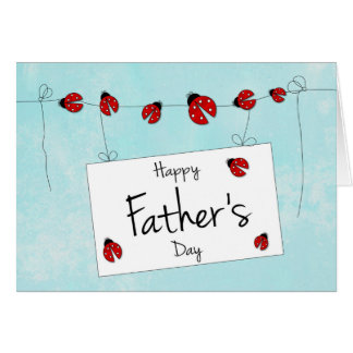 Cute Ladybug Design for Father's Day Greeting Card