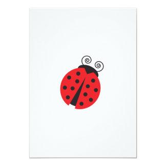 Cute Ladybug Drawing 13 Cm X 18 Cm Invitation Card