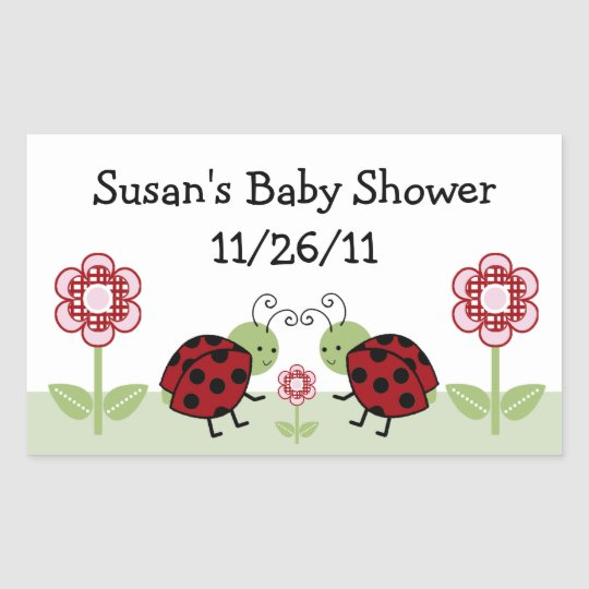 Cute Ladybug & Flowers Stickers/Envelope Seals