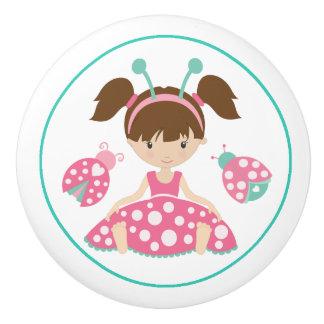 Cute Ladybug Girls Ceramic Knob