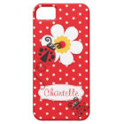 Cute ladybug girls name red iphone 5 case